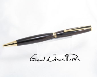 Ballpoint Pens, Wood Pens, Writing Pens, Custom Pens, Ebony, Gold Pens, Journal Writing, Desk Accessories, Office Gifts, Executive Office