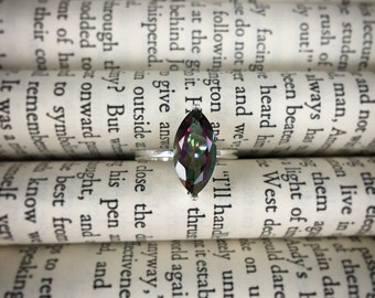 Sterling Silver Marquise Cut Rainbow Topaz Ring