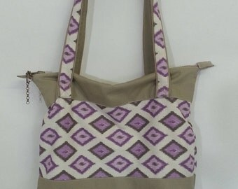 Zippered Tote  Purple - FREE SHIPPING