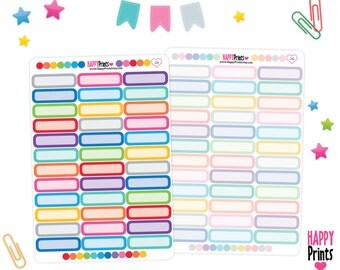 Monthly Quarter Box Planner Stickers