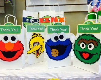 Sesame Street Face Cuts - Cut Die-Elmo- Birthday Party Supply