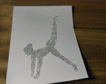 Pilates Decal Silver Glitter