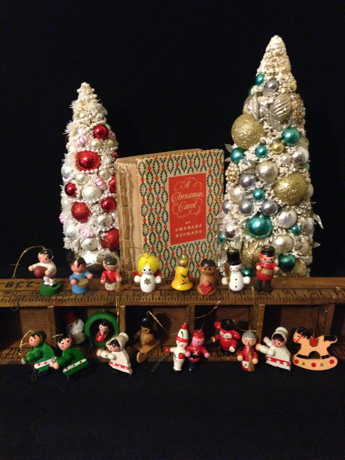 Mini Wooden Christmas Ornament Collection Set Of 20