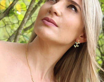 Goldplated Isabella Small Earrings