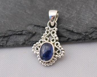 Kyanite Pendant, Sterling Silver