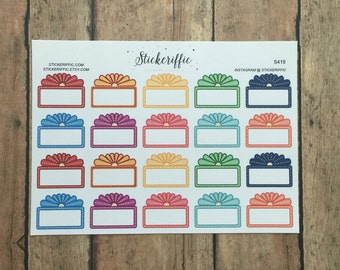 S419  Movie Marquee Sign Stickers - Rainbow Colors