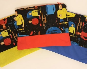 Starfleet Star Trek Bag - Makeup Bag - Command, Engineering and Sciences - Nerdy Gifts for Her - Geeky gift