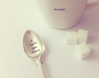 I Love You Daddy Silver Plated Teaspoon