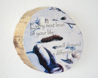 "Driftwood picture / photo on Driftwood with lettering ""every next level..."