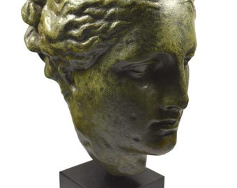 Hygeia ancient Greek Goddess of health great bronze head Statue