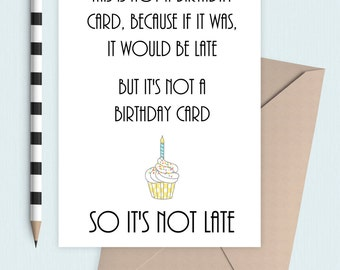Not a birthday card!