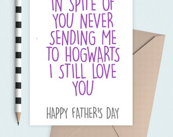 Howarts Father's Day card