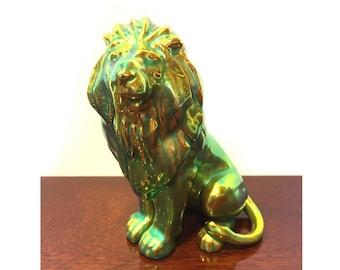 Zsolnay Eosin, Zsolnay Lion, Zsolnay Animal, Zsolnay Figurine, Collectible Eosin, Hungarian Eosin
