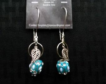 Aquatic Leaf Dangle Earrings