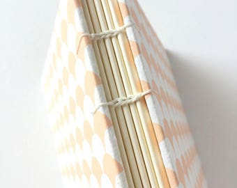 White and Pink Scallops Journal