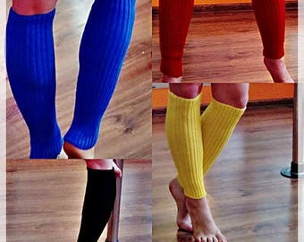 Red, blue, black, pink or yellow gaiters for sport or pole dance