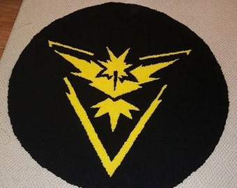 Pokemon Team Instinct Handmade Rug 30inches