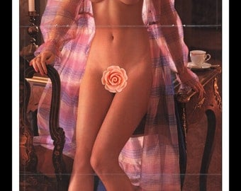 "Mature Playboy November 1981 : Playmate Centerfold Shannon Lee Tweed Gatefold 3 Page Spread Photo Wall Art Decor 11"" x 23"""