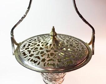 Silver Vase Silver Urn Silver Bowl Silver Decor Antique Silver Repousse Large Urn Large Vase Silver Plated Antique Vase Vintage Vase Ornate