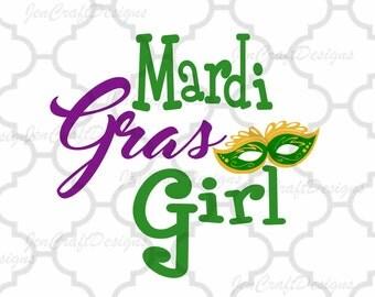 Mardi Gras Girl SVG Mardi Gras Jester Crown New Orleans Svg Cuttable Design SVG EPS Png Dxf, Cricut, Silhouette Cut File