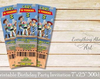Toy Story birthday invitation, Toy story ticket invitation, Printable Toy Story invitation, Birthday ticket invitation, Toy Story party