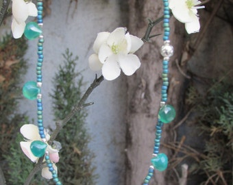Choker Necklace with Beautiful forest green Onyx