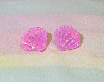 Fairy Kei Earrings, Pop Kei Earrings, Mermaid Shell Earrings, Mermaid Earrings, Seashell Earrings, Fairy Kei Shell Earrings
