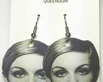 Twiggy Earrings, Twiggy Jewelry, Celebrity Jewelry