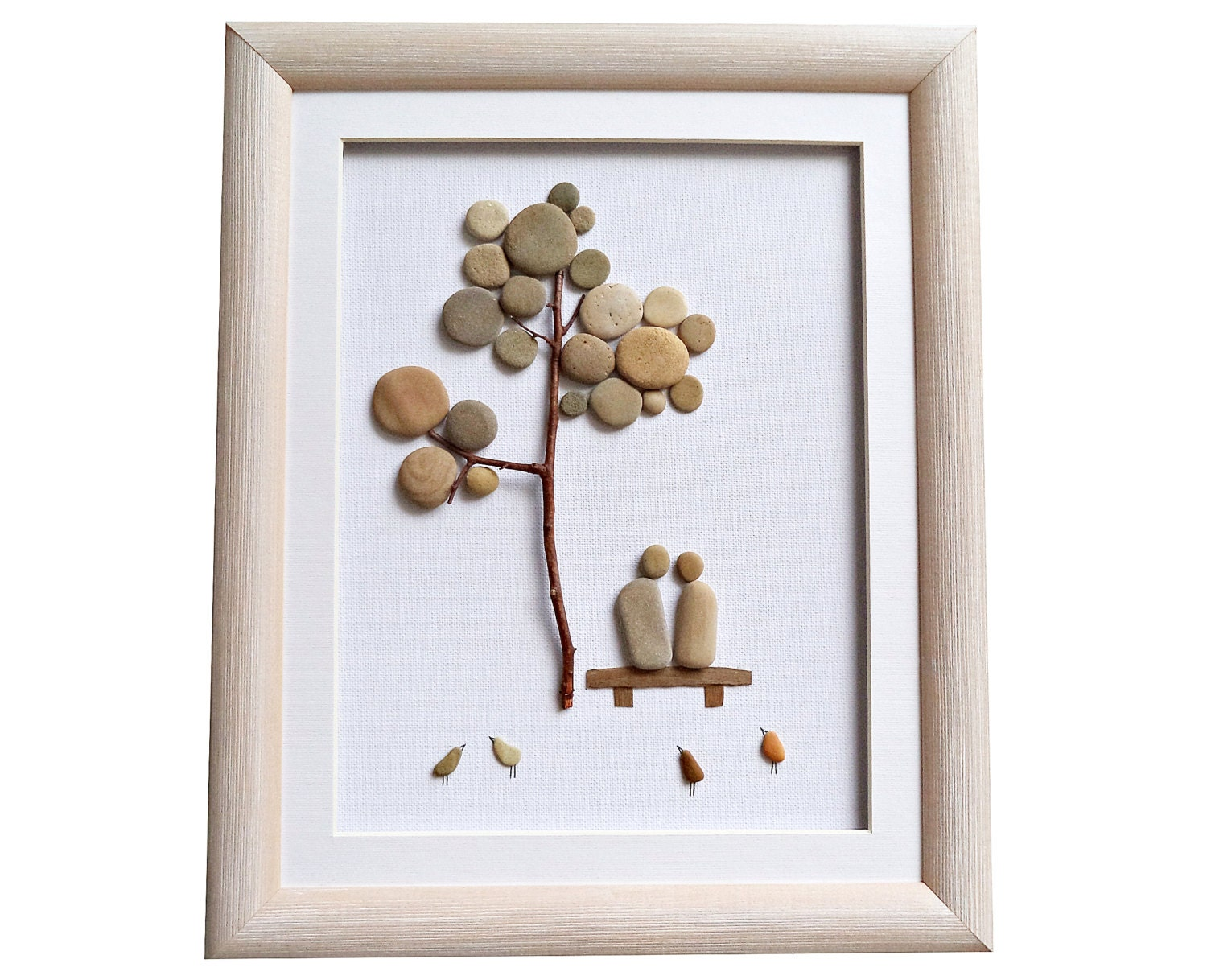 Pebble Art Gift For Engagement Wedding By Pebbleartdream