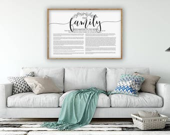 LDS Family Proclamation Horizontal, Poster Family Proclamation, Large Family Proclamation, LDS print, LDS Printable