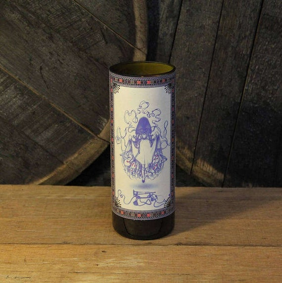 Southern Belle James Jean Candle - Upcycled Wine Candle - Southern Belle Recycled Wine Bottle 22 oz. Soy Wine Candle - Art Candle - Soy Art