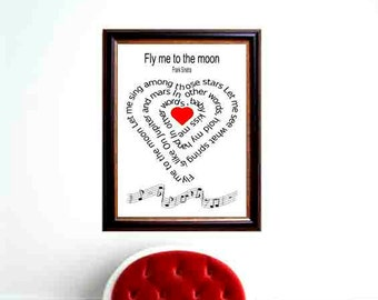 In My life-Beatles, Typography art ,print, Original Beatles art, Beatles Art, Music art print, Song Lyric, heart ,Spiral art,  Music