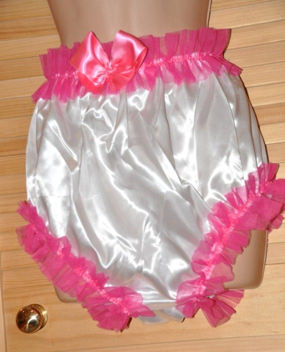 Sissy satin panties - silky satin princess posing panties...wonderful silky white pantie fun - Sissy Lingerie