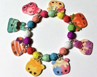 Num Noms 8 Charm Bracelet, Num Noms Bracelet ,Girls Charm Bracelet, Num Noms Birthday Party Favors