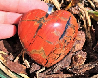 Red Jasper Heart infused w/ Reiki/ Healing Stones and Crystals