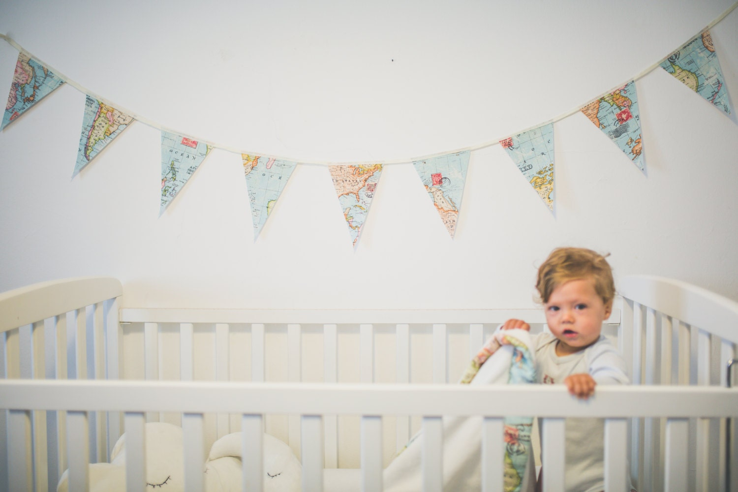 Baby bunting banner world map bunting world map decor wedding baby bunting banner world map bunting world map decor wedding garland fabric gumiabroncs Image collections