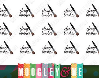 Clean Brushes Planner Stickers for your Horizontal or Vertical Erin Condren Life Planner, Happy Planner, or any planner!
