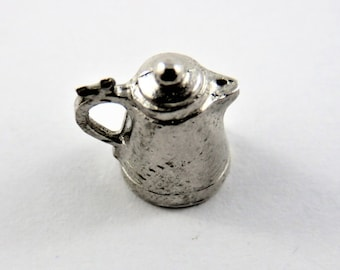 Tea or Coffee Pot Sterling Silver Charm.