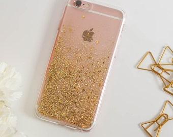 gold iphone 7 case glitter gift iphone 7 plus case handmade iphone 6 case sparkle iphone 6 plus case iphone 6s case iphone 6s plus case