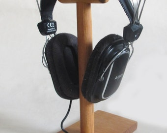 Wood Headphone Stand, Wooden Headphone Holder, Rustic Wooden Headphone Stand, Boyfriend Gift, Gift for Men