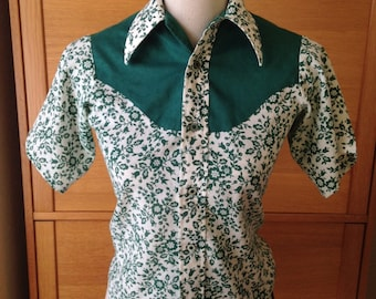 Cool Cat Rockabilly Shirt.  Child's Vintage Western Wear by Sears
