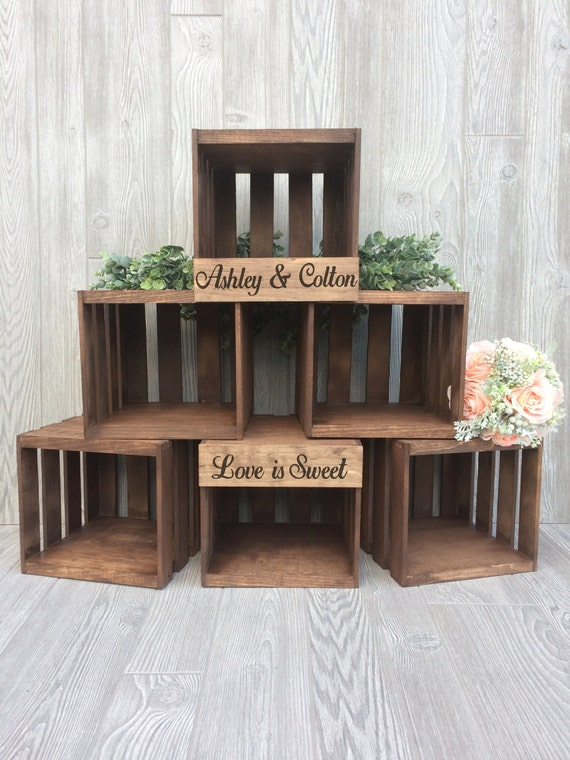 rustic wooden wedding cake stand rustic wedding cupcake stand crate cupcake stand wood 19593