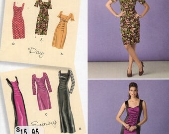 Simplicity 1778 Sewing Pattern Free Us Ship Day Evening Dress Uncut Size 6/14 14/22  6 8 10 12 14 16 18 20 22 Bust 30 32 34 36 38 40 42 44