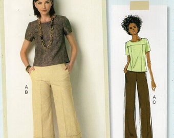 Butterick 276 6183 Sewing Pattern Free Us Ship Top Pants Capris Size 6/14 14/22 Bust 30 31 32 34 36 38 40 42 44 new
