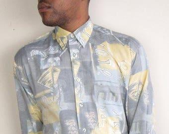 Abstract Print Long Sleeve Shirt