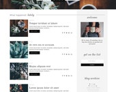 "Feminine Blogger Template ""Classy 2.0"" / Responsive Blogger Template / Professional Lifestyle + Fashion Blog Design"