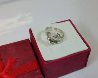 Children ring silver ring 925 Silver dolphins SR718