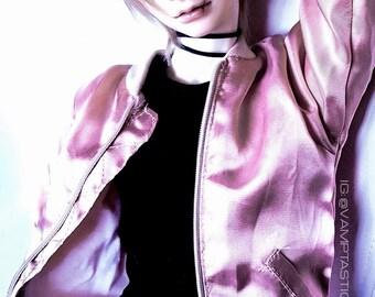 Rose Gold BJD Bomber Jacket - Bjd Sd Coat - Bjd Clothes Msd Shirt - Minifee Bjd Clothes - 70 cm Bjd Jacket - Bjd Clothes 1/3 - Iplehouse Jid
