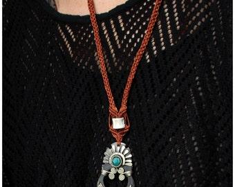 SALES !!!Horn Pendant - Fish Bones - Unique Piece - Tribal - Gypsy - Boho - Design - Special - Macrame