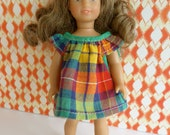 PLAID DOLL DRESS in summery style for the Mini American Girl doll